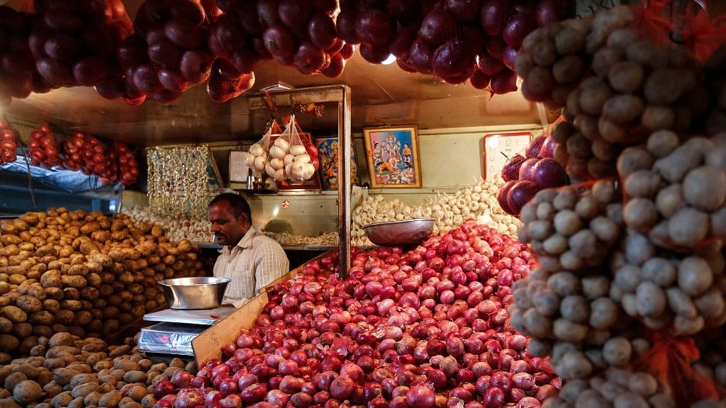 Price of food articles fell 2 percent led by a 9 percent drop in prices of fruits and vegetables.