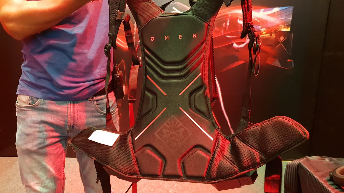 Easy to wear backpack design is important for gamers.