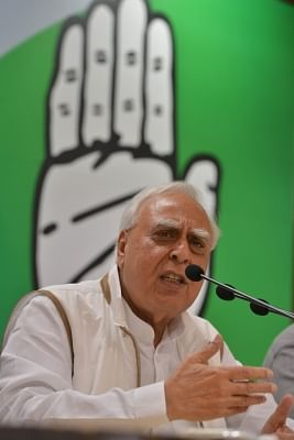 New Delhi: Congress leader Kapil Sibal addresses a press conference in New Delhi, on March 30, 2018. (Photo: IANS)