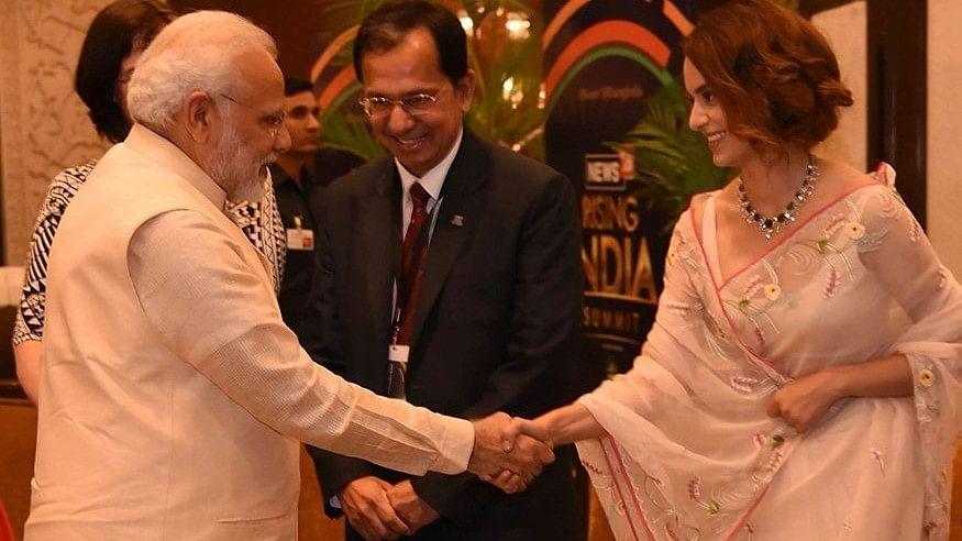 Kangana Ranaut meets Prime Minister Narendra Modi in Delhi.