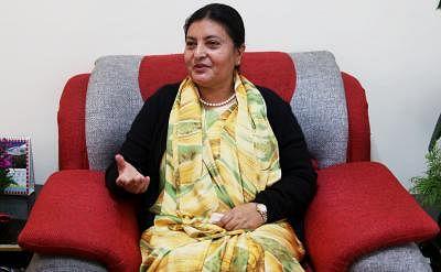 Nepalese President Bidya Devi Bhandari . (File Photo: Xinhua/IANS)