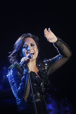 American pop star Demi Lovato. (Xinhua/Phearum/IANS)