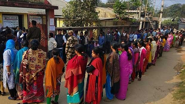 Ever since the BJP  came to power at the Centre in 2014, its average vote share in the northeast has grown 23.1 percentage points from 3.9 percent to 27 percent.