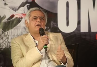 "New Delhi: Director Hansal Mehta addresses during the trailer launch of his upcoming film ""Omerta"" in New Delhi on March 14, 2018. (Photo: IANS)"