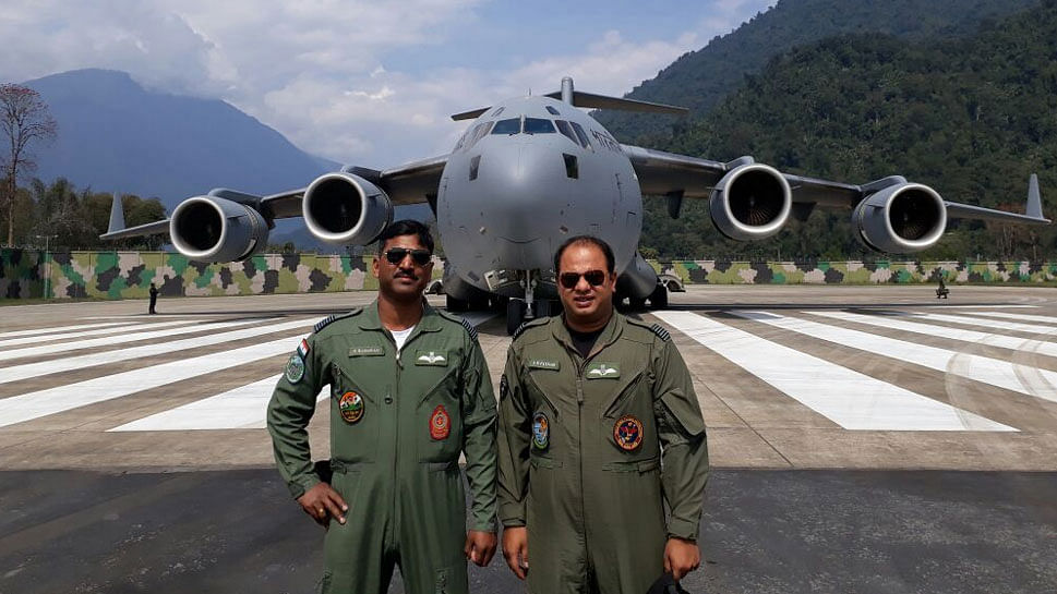 India's Largest Military Transport Aircraft C-17 Lands Near China
