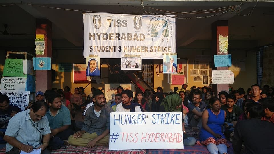 Students are protesting across all four TISS campuses.