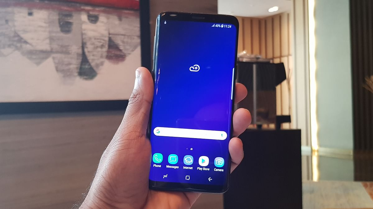 The Galaxy S9+ feels compact and easier to hold, compared to last year.