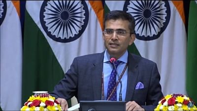 New Delhi: Ministry of External Affairs Spokesperson Raveesh Kumar during weekly media briefing in New Delhi on March 15, 2018. (Photo: Video Grab/IANS/MEA)