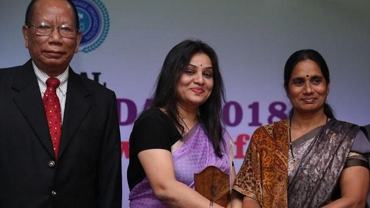 """Sangliana  read from a prepared speech, which allegedly reeked of """"patriarchy"""" at Nirbhaya Awards 2018 in Bengaluru on 8 March."""