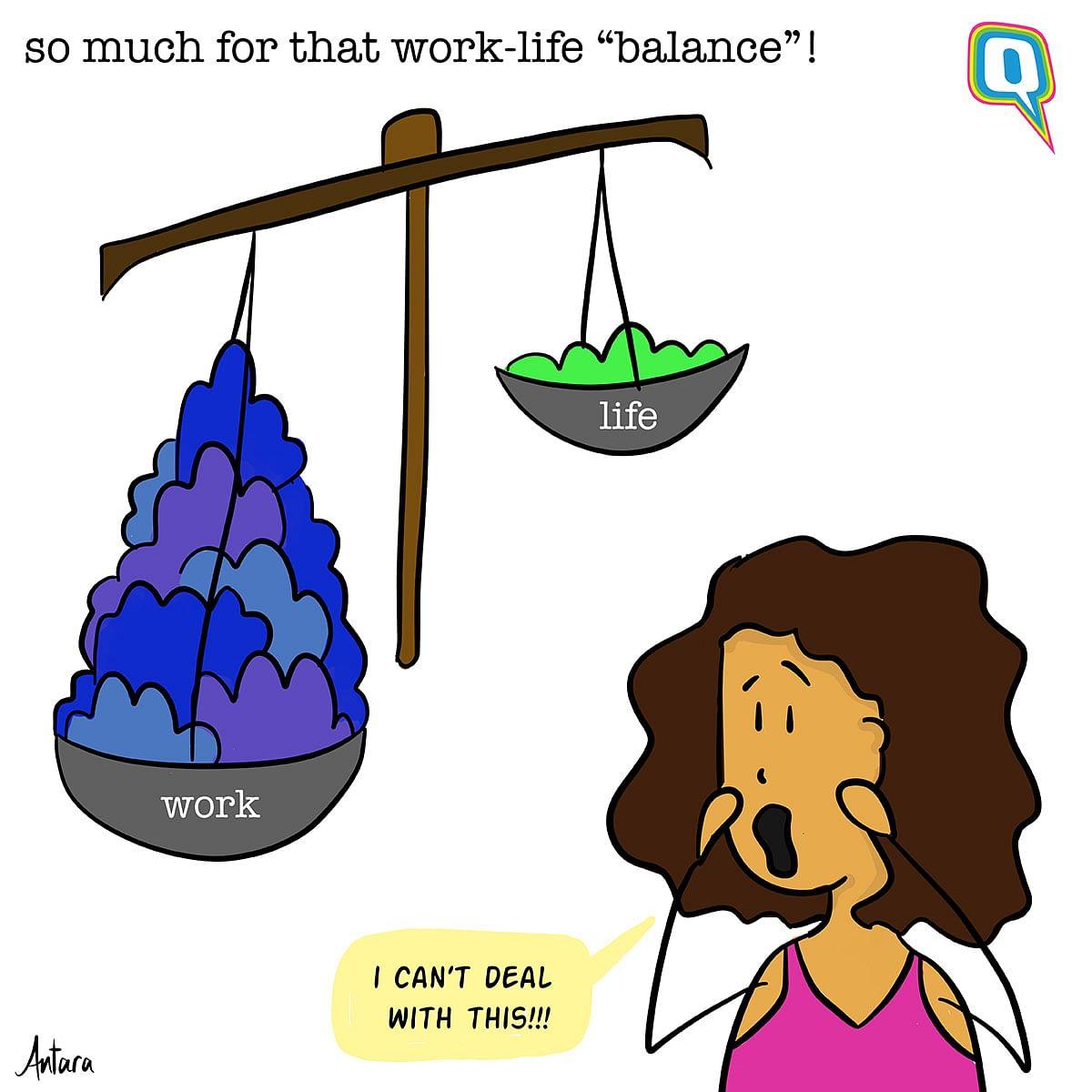 Antara's Comics: Is the Work-Life Balance a Myth?