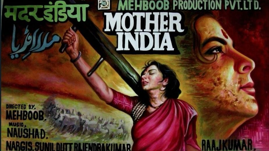 A poster of Mehboob Khan's <i>Mother India.</i>