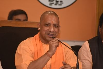 Lucknow: Uttar Pradesh Chief Minister and BJP leader Yogi Adityanath addresses a press conference at the party office in Lucknow on March 4, 2018. (Photo: IANS)