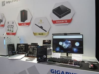 New Delhi: Various gadgets on display at Taiwan Excellence pavilion during Convergence 2018 in New Delhi on March 7, 2018. (Photo: IANS)