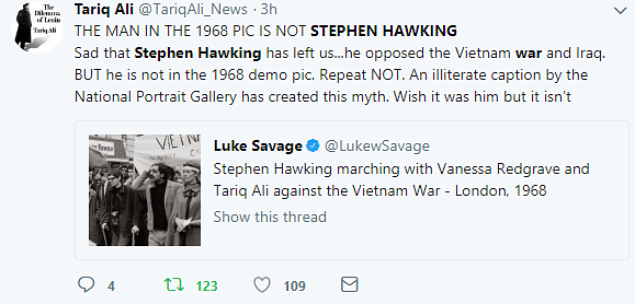 Fake News! Man Marching Against Vietnam War Is Not Stephen Hawking