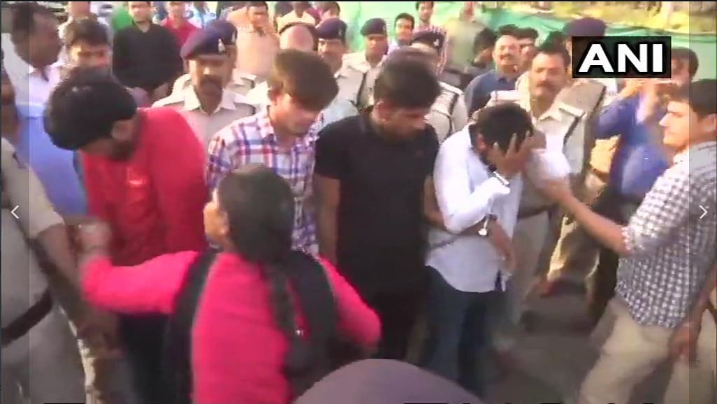 4 Rape Accused  Paraded on Bhopal Road by Cops, Slapped by Public