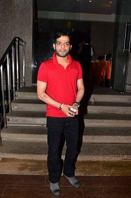 Mumbai: Actor Karan Patel during Karanvir Bohra birthday celebration in Mumbai, on Aug 28, 2015. (Photo: IANS)