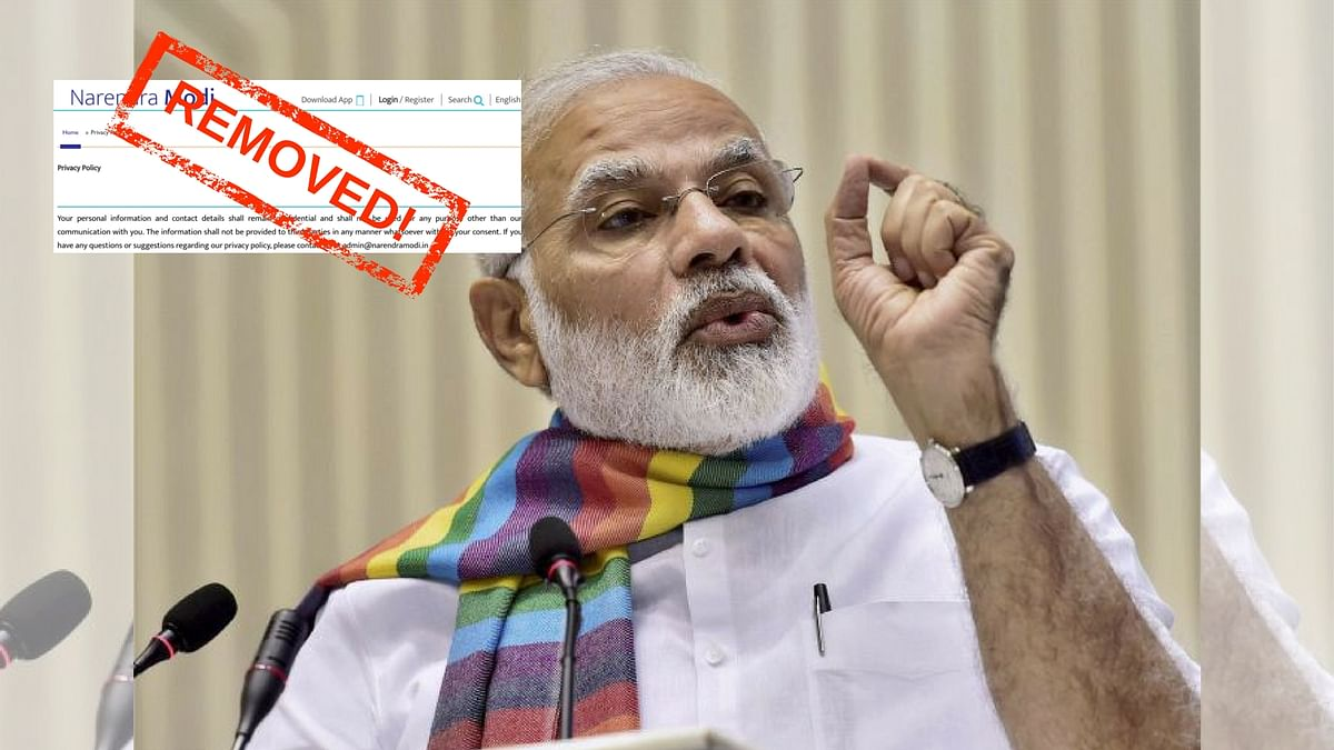 After NaMo App Exposé, PM's Website Quietly Changes Privacy Policy