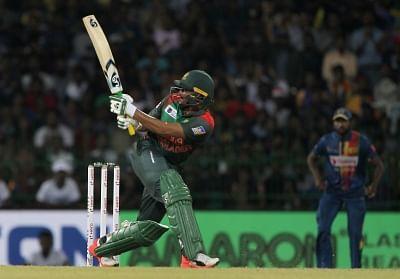 Colombo: Shakib Al Hasan of Bangladesh in action during the sixth match of 2018 Nidahas Twenty20 Tri-Series between Sri Lanka and Bangladesh at R.Premadasa Stadium in Colombo, Sri Lanka on March 16, 2018. (Photo: Surjeet Yadav/IANS)