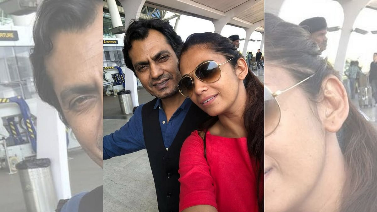 Nawazuddin Siddiqui with his wife Aaliya.