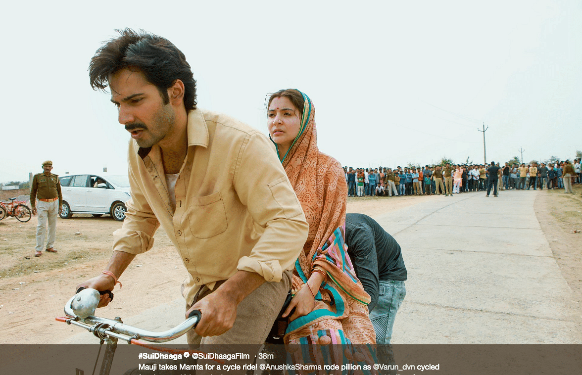 A screenshot from the Twitter handle of the official page of <i>Sui Dhaaga.</i>