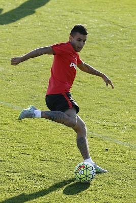 Atletico Madrid forward Angel Correa . (IANS/EFE/Juan Carlos Hidalgo)