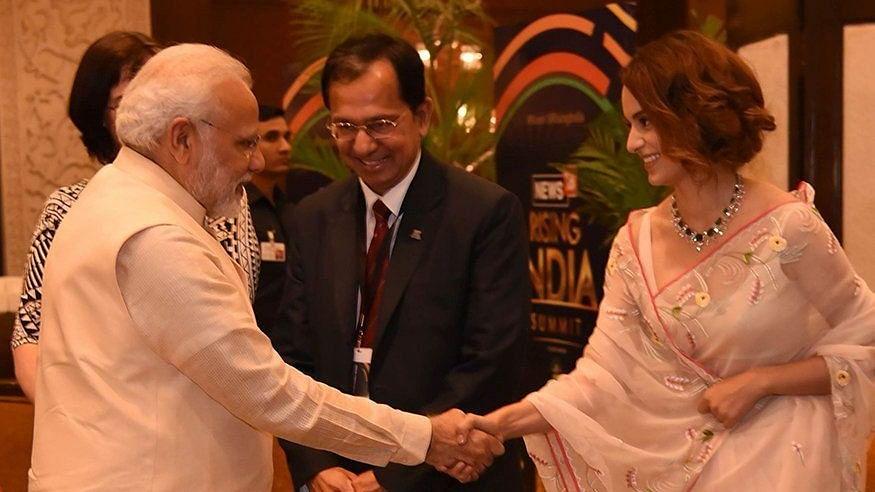 Kangana Ranaut meets Indian Prime Minister Narendra Modi.