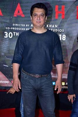 "Mumbai: Filmmaker Sajid Nadiadwala during the special screening of film ""Baaghi 2"" on March 29, 2018. (Photo: IANS)"