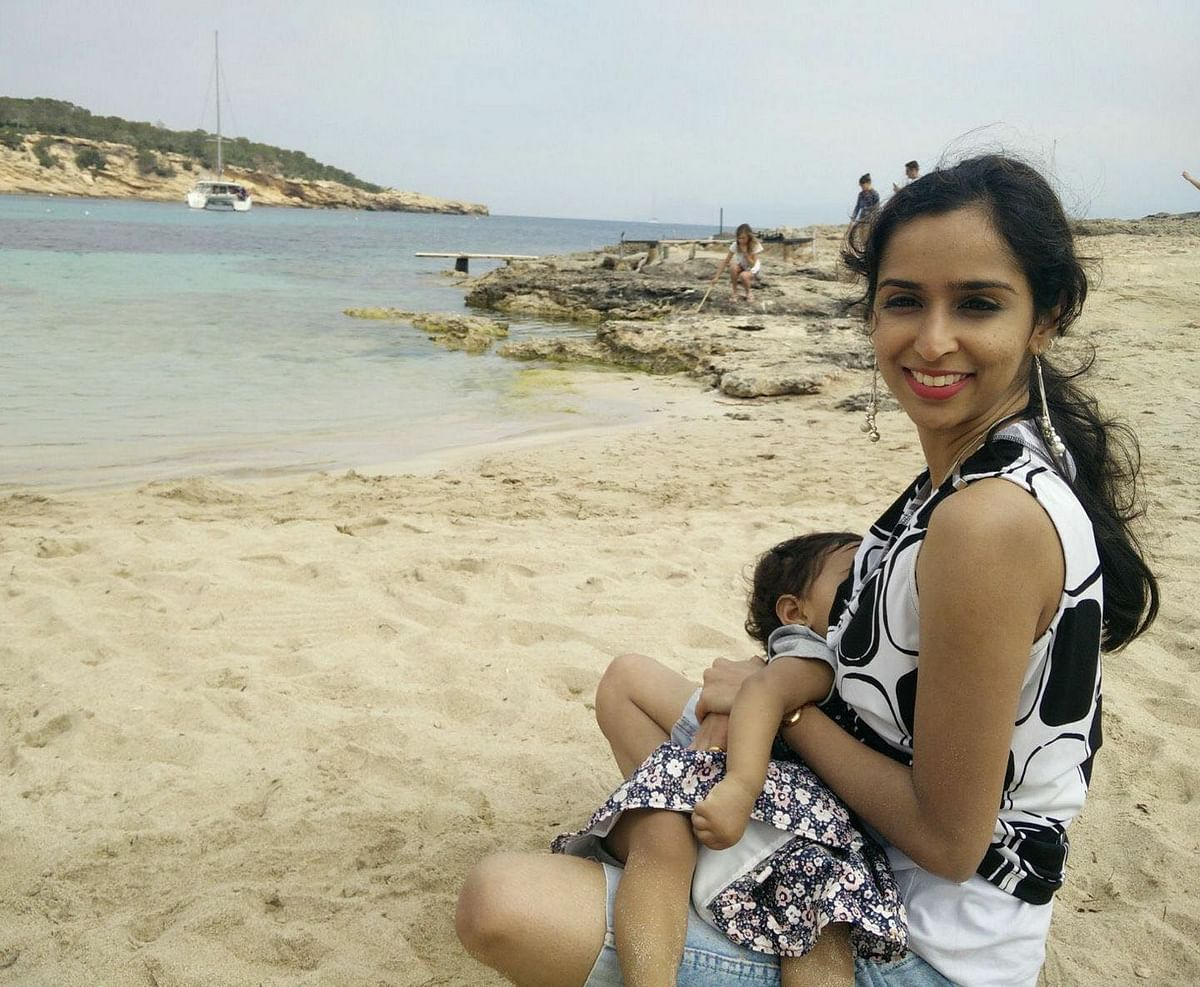 """""""Hopefully next time, when they see a breastfeeding mother, they will make her comfortable,"""" says Raksha."""