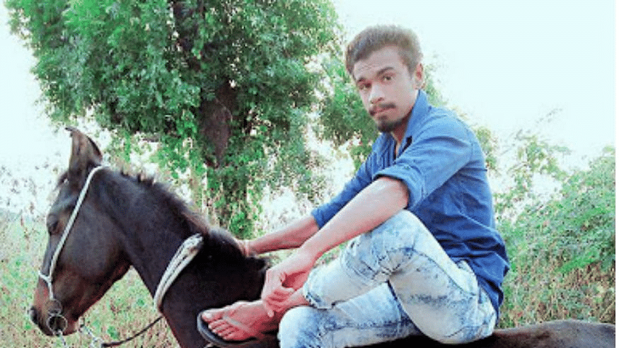 Police said that Pradeep Rathod, 21, had been receiving threats ever since he bought a horse about two months ago.