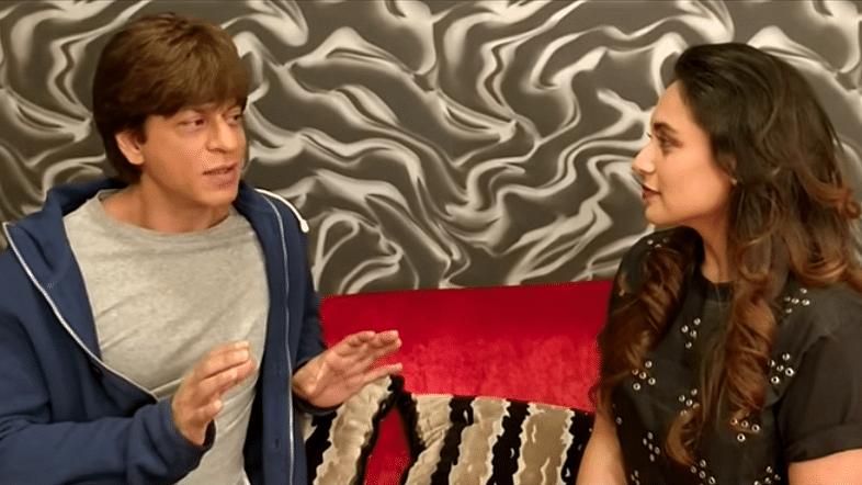 Shah Rukh Khan chats with Rani Mukerji.