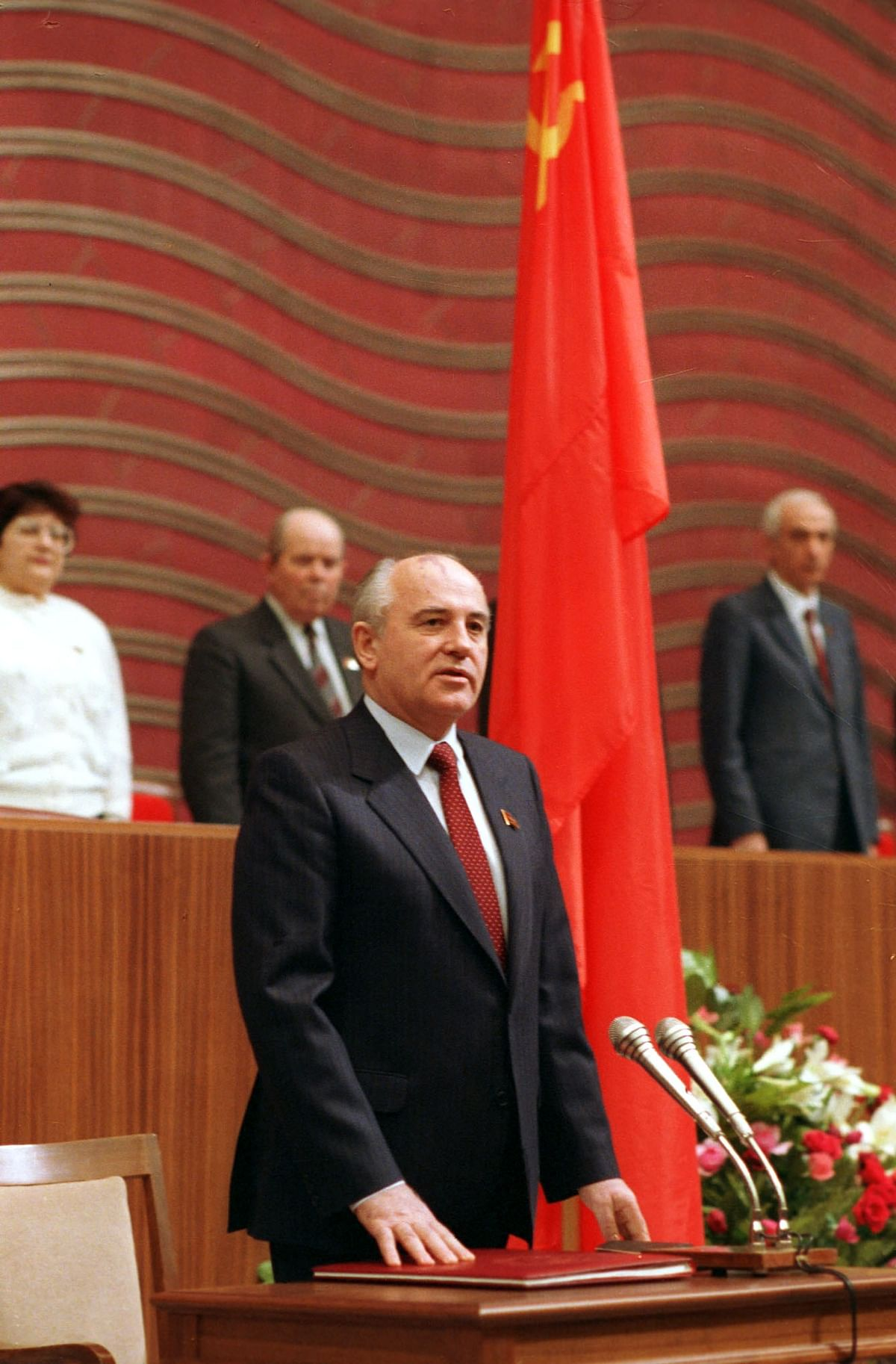 Mikhail Gorbachev was sworn in as the eighth President of the Soviet Union on 15 March 1990.