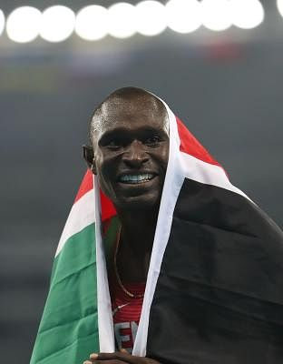 Olympic 800 metres champion David Rudisha. (Xinhua/Cao can/IANS)(dh)