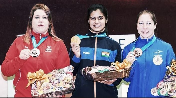 Sixteen-year-old Manu Bhaker has earned a quota place for the Beunos Aires 2018 Youth Olympic Games.