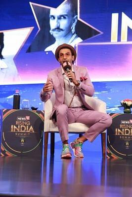 New Delhi: Actor Ranveer Singh addresses during News18 Rising India Summit in New Delhi on March 17, 2018. (Photo: Amlan Paliwal/IANS)