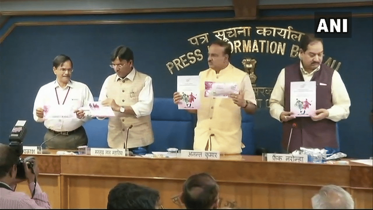 'Suvidha' being launched for women by an all men panel in New Delhi.