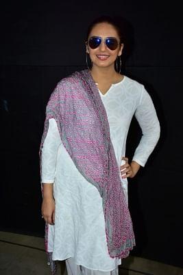 """Mumbai:  Actress Huma Qureshi at the """"Zoom Holi Party"""" in Mumbai on March 2, 2018. (Photo: IANS)"""