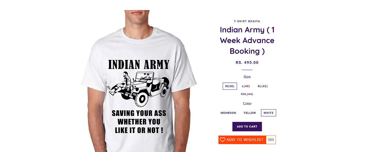 The T-shirt is being sold despite a defamation suit against Bagga.