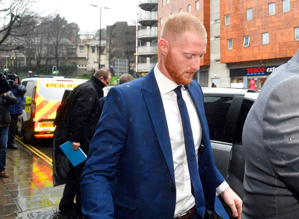 England cricketer Ben Stokes arrives at Bristol Magistrates Court in Bristol in February this year.