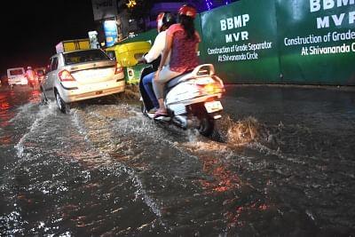 Bengaluru: Rains lash Bengaluru on March 16, 2018. Representative image.