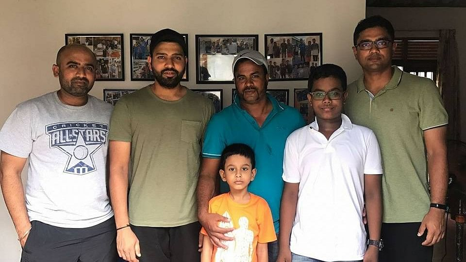 Rohit Sharma with Nilam's family menbers.
