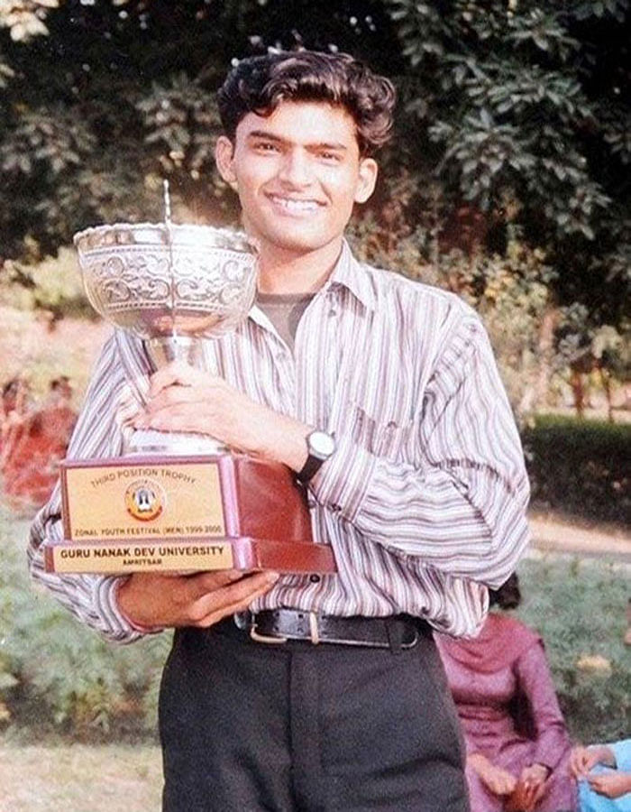 Kapil Sharma in his college days.