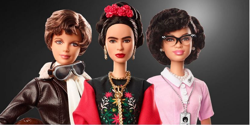 Barbies from the Role Model collection launched on International Womens Day 2018.