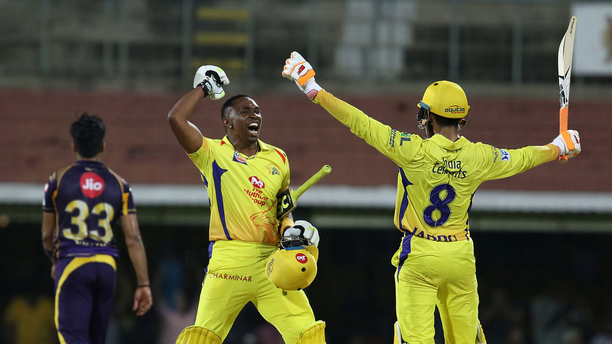 Chennai Super Kings beat KKR by 5 wickets.