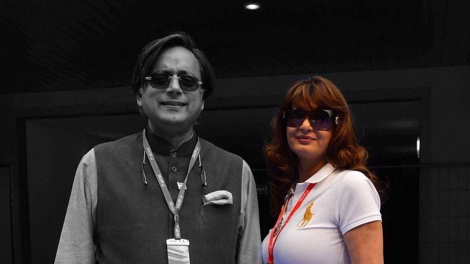 File photo of Shashi Tharoor with his now deceased wife, Sunanda Pushkar.