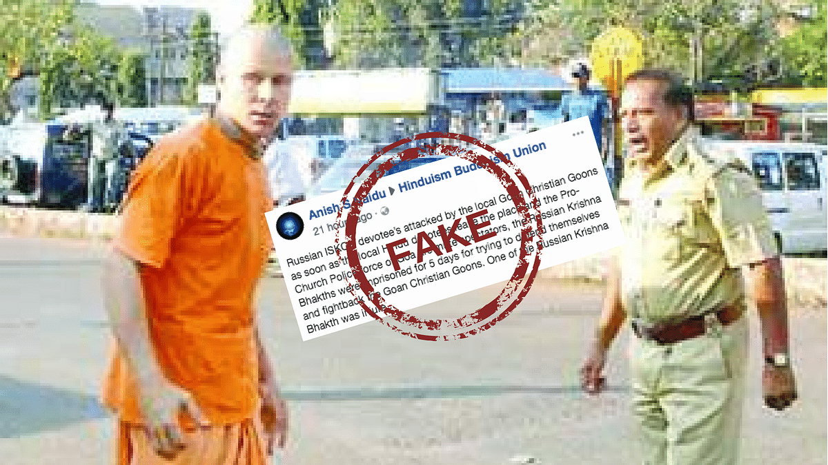Fake News: Krishna Devotees Were Not Attacked by Christians in Goa