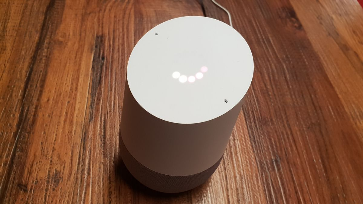 Google Home doesn't let you switch off the microphone.