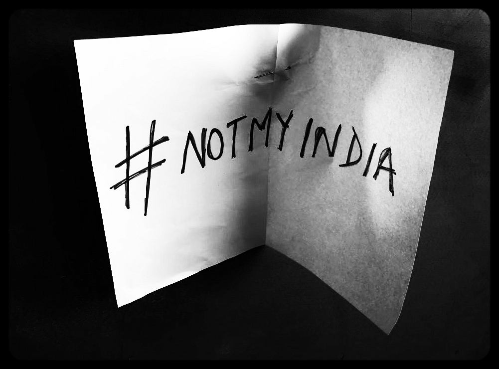 A photo from a protest against the Kathua and Unnao rapes in Mumbai.
