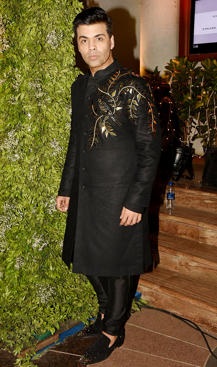 Karan Johar at the wedding of Sandeep Khosla's niece's wedding.