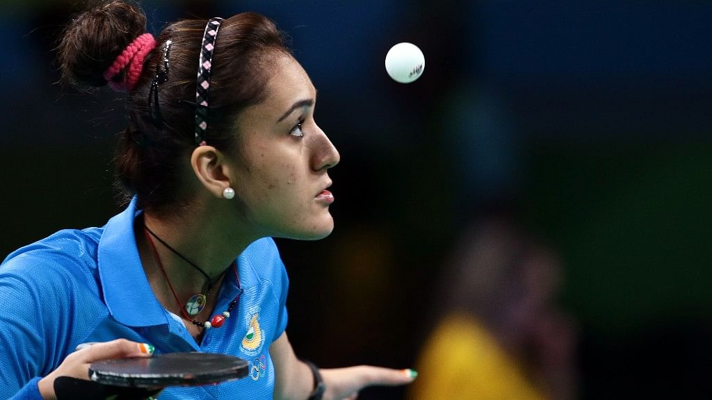 Indian table tennis player Manika Batra.