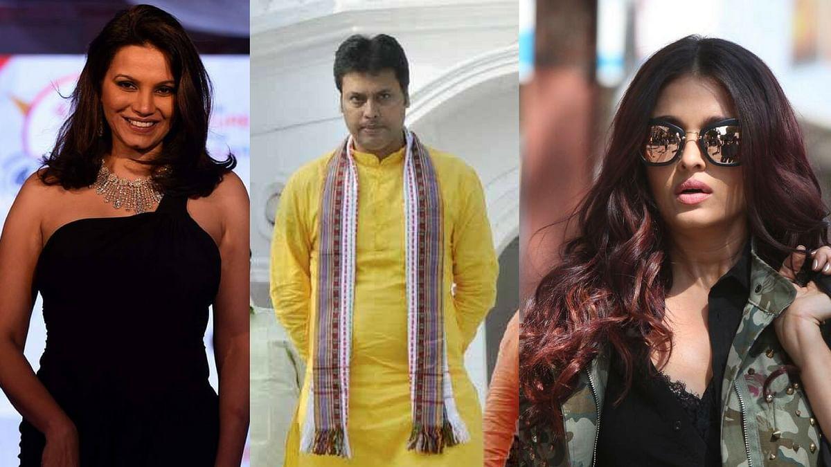 Diana Hayden, Biplab Kumar Deb and Aishwarya Rai.